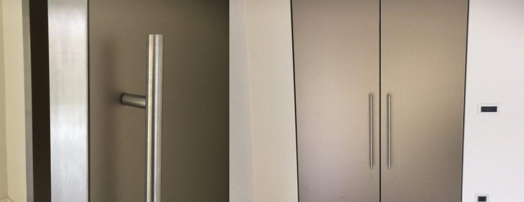 taatsdeuren glas - roestvrijstaal kader - doors orange